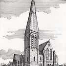 194 - UNITED REFORMED CHURCH, BLYTH - DAVE EDWARDS - INK - 1992 by BLYTHART