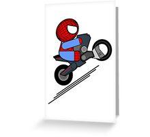 ITSY BITSY SPIDER BIKER Greeting Card