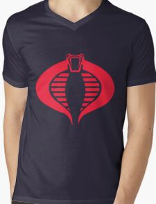 COBRA Logo Mens V-Neck T-Shirt