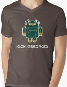 Kick-Assdroid Mens V-Neck T-Shirt