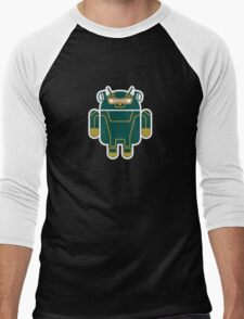 Kick-Assdroid (no text) Men's Baseball ¾ T-Shirt
