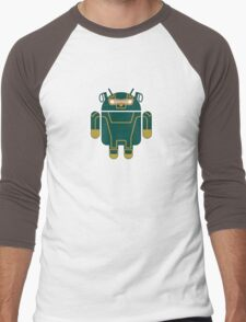 Kick-Assdroid (no text) Men's Baseball ¾ T-Shirt