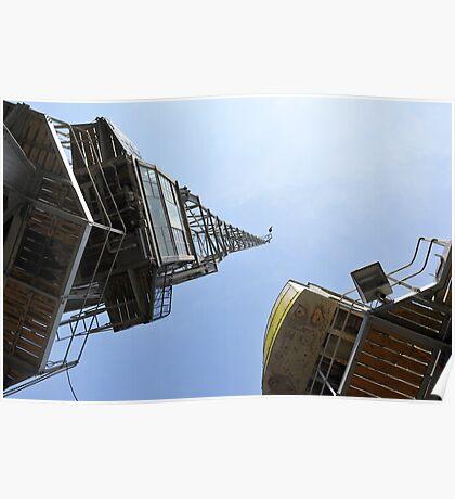 Cranes, Bristol Docks. Poster
