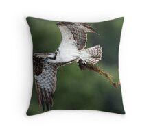 The Osprey Returns Throw Pillow