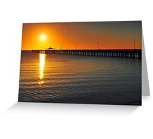 Shorncliffe Jetty at sunrise. Brisbane, Queensland, Australia. (2) Greeting Card