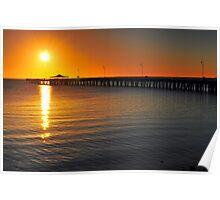 Shorncliffe Jetty at sunrise. Brisbane, Queensland, Australia. (2) Poster