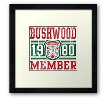 Retro Bushwood 1980 Member Framed Print