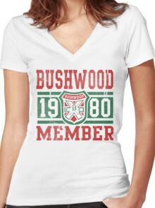Retro Bushwood 1980 Member Women's Fitted V-Neck T-Shirt
