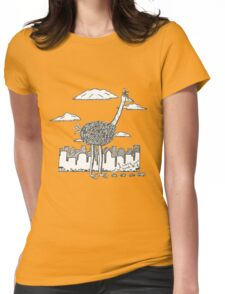 Big Bird in New York Womens Fitted T-Shirt