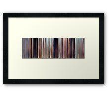 Moviebarcode: Cars (2006) Framed Print
