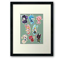 Animal Crossing set 1 Framed Print