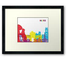 Madrid skyline pop Framed Print