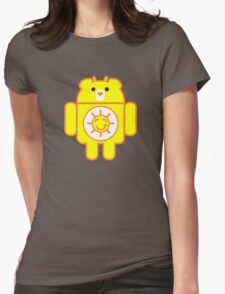 DROIDSHINE BEAR Womens Fitted T-Shirt