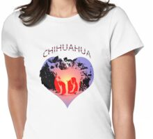 Chihuahua in a Heart Tee Womens Fitted T-Shirt