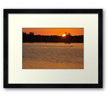Sunrise from the Tip of Stump Pass, As Is Framed Print