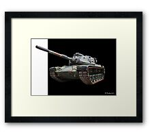 M48A2 Tank - Military Track Vehicle Framed Print