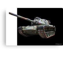 M48A2 Tank - Military Track Vehicle Canvas Print