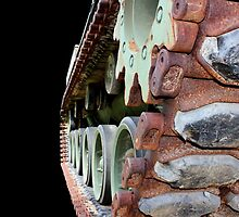 Keep 'Em Rolling - M48A2 military tank vehicle by Betty Northcutt