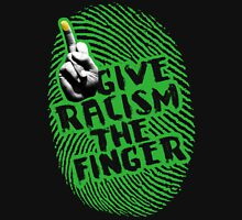 Give Racism The Finger - Black Long Sleeve T-Shirt