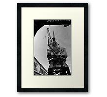 Cranes, Bristol Docks Framed Print