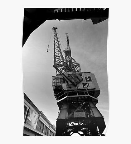 Cranes, Bristol Docks Poster