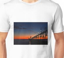 Sunset at the Grand Haven Pier 2 Unisex T-Shirt