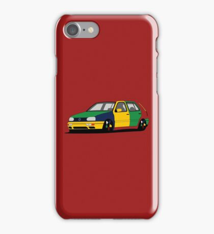 Volkswagen Golf MK3 Harlequin iPhone Case/Skin