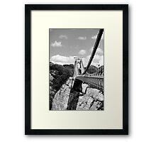 Clifton Suspension Bridge, Bristol, UK Framed Print