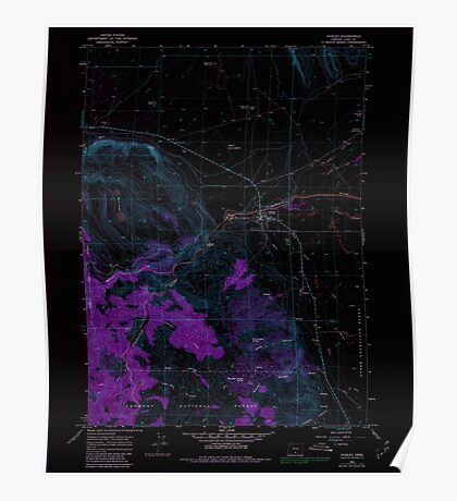 USGS Topo Map Oregon Paisley 281032 1966 24000 Inverted Poster