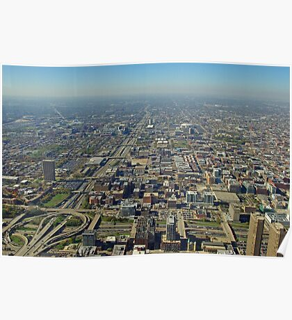 West Chicago from the Sears Tower Poster