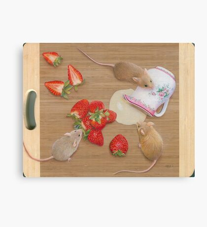 Strawberries and Cream Delight Canvas Print