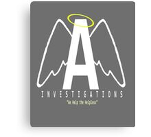Angel Investigations Logo Canvas Print