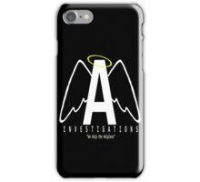 Angel Investigations Logo iPhone Case/Skin
