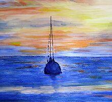 Safe Haven: Sunset, La Manzanilla, Mexico #1 by Lynda Earley