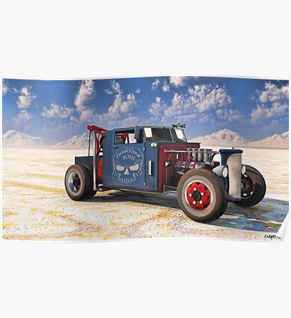 Hot Rod Tow Truck Poster