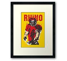 Blooded Rhino Framed Print