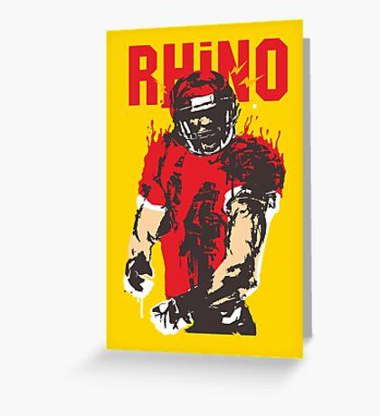 Blooded Rhino Greeting Card