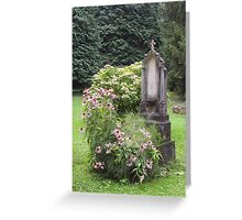 Flowered grave Greeting Card