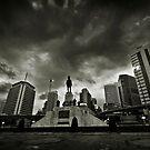 Silom - Lumpini park main gate, Bangkok by Laurent Hunziker