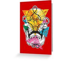 Geometry Skull Greeting Card