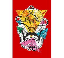 Geometry Skull Photographic Print