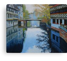 Strasbourg Canal at Dusk Canvas Print