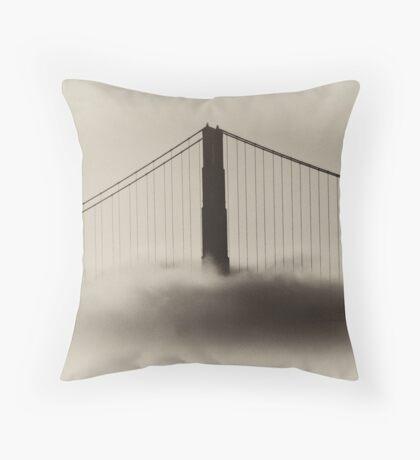 Golden Gate Bridge in Fog Throw Pillow