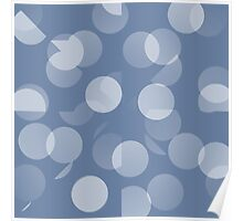 Blue and White Dots Poster