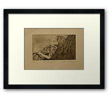 Sleeping Girl- Intaglio Print Framed Print