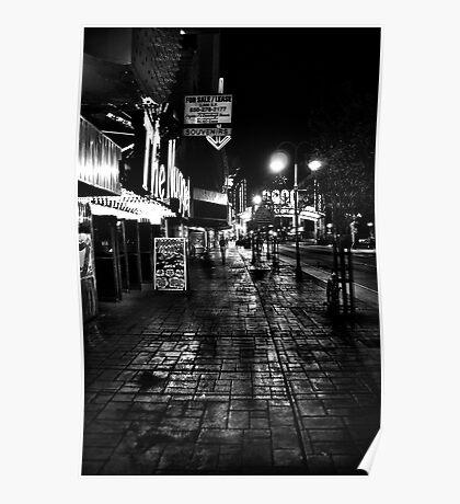 Reno Nevada at night Poster