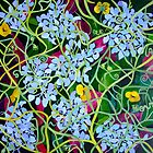 Hydrangea with Buttercups by marlene veronique holdsworth