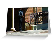 Man in Uniform Greeting Card