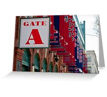 Gate A at Fenway Park Greeting Card