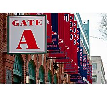 Gate A at Fenway Park Photographic Print